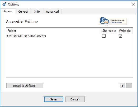 Globus Windows Add Folders
