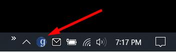 Globus Icon on Taskbar